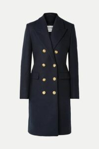 RE/DONE - 60s Double-breasted Wool-blend Coat - Navy