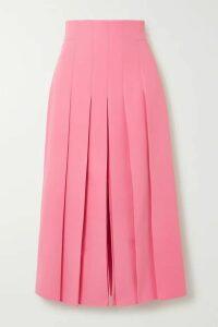 Akris - Pleated Wool-blend Midi Skirt - Pink