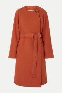 Chloé - Belted Wool-blend Felt Coat - Orange