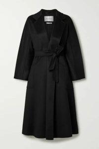 Max Mara - Labbro Belted Cashmere Coat - Black