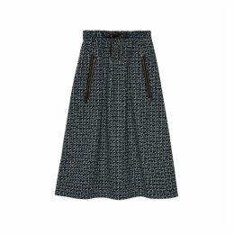 Square G wool skirt