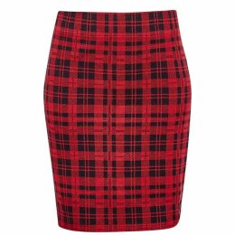 Jack Wills Bodmin Tartan Tube Skirt - Red