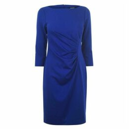 DKNY Occasion Ruched Ponte Dress - Blue