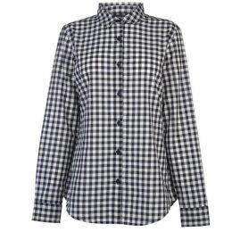 Kangol Long Sleeve Check Shirt Ladies - White