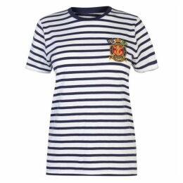 Polo Ralph Lauren Stripe Emblem T-Shirt - Navy