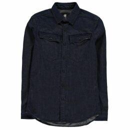 G Star 3301 Long Sleeve Shirt - rinsed