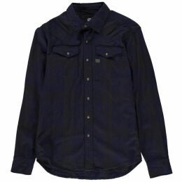 G Star Tacoma Long Sleeve Shirt - indigo/asfalt c
