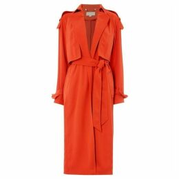 MICHAEL Michael Kors Drapey trench coat - Red