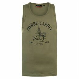 Pierre Cardin Printed Vest Mens - Green
