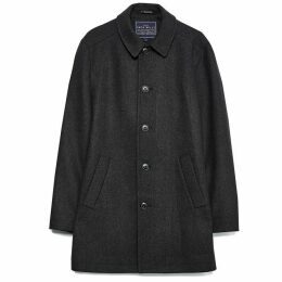 Jack Wills Elmwood Wool Overcoat - Charcoal