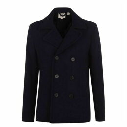 Jack Wills Bickmor Wool Peacoat - Navy