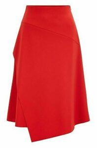 Regular-fit high-waisted skirt with layered front