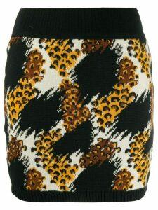 Yves Saint Laurent Pre-Owned 1991 animal printed knitted skirt - Black