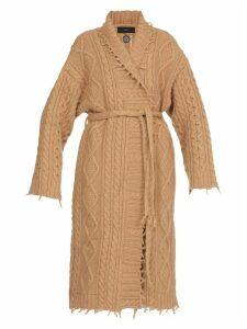 Alanui Fisherman Knit Coat
