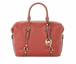 Michael Ko Satchel Bedford Legacy Handbag In Brandy Grained Leather