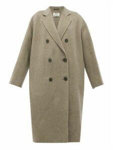 Acne Studios - Odethe Double-breasted Wool Coat - Womens - Grey