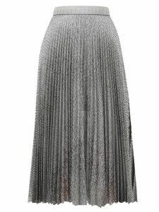 Christopher Kane - Dna Pleated Metallic Tulle Midi Skirt - Womens - Silver