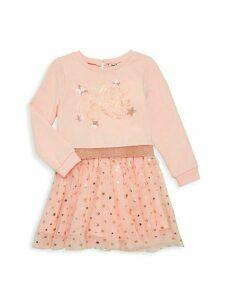 Little Girl's Star-Embellished Tulle Dress