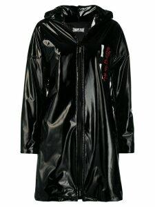 Philipp Plein Anniversary 20th vinyl raincoat - Black