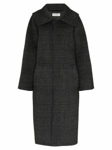 Balenciaga check print coat - Grey
