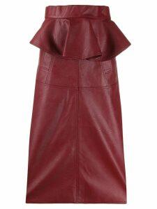 Johanna Ortiz high waisted peplum skirt - Red