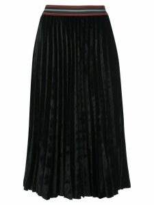 M Missoni velvet pleated skirt - Black