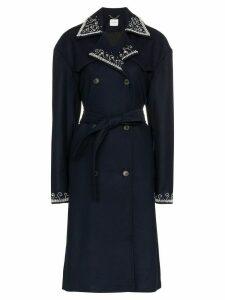 Magda Butrym Amur Plaid Coat - Blue