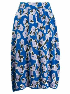 Christian Wijnants floral embroidered skirt - Blue