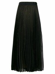 Marco De Vincenzo rhinestone-embellished pleated skirt - Black