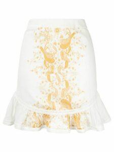 We Are Kindred Tropez ruffled-hem skirt - White