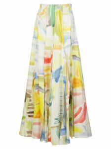 Rosie Assoulin multi-pleats midi skirt - White