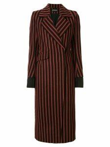 Ann Demeulemeester striped tie-waist coat - Red