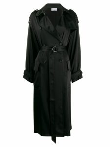 Red Valentino double-breasted belted trench - Black