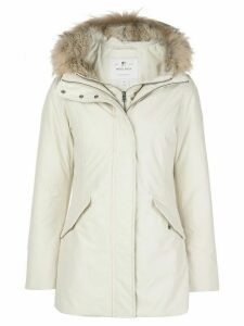 Woolrich Valentine hooded mid-length parka - White