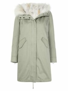 Yves Salomon Parka with Cotton and Fox Lining - Green