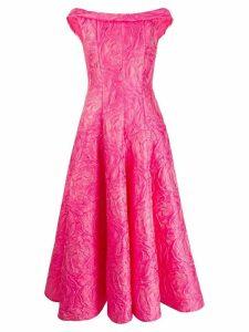Talbot Runhof poiret rose jacquard dress - PINK