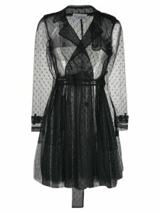 Red Valentino sheer pleated coat - Black