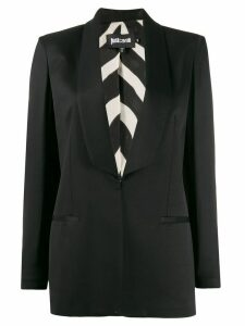 Just Cavalli fitted tuxedo blazer - Black