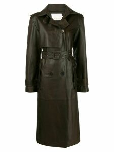 Remain Pirello belted trench coat - Green