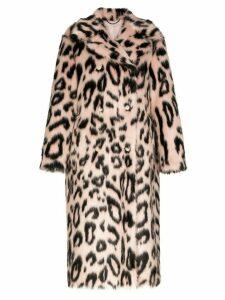 Stella McCartney leopard print faux-fur coat - PINK