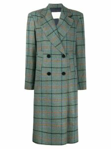 Remain Debbie checked double-breasted coat - Blue