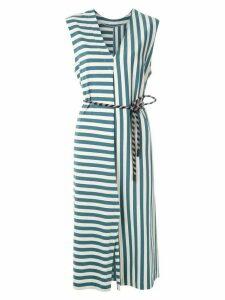 Osklen Summer Stripe belted dress - Blue