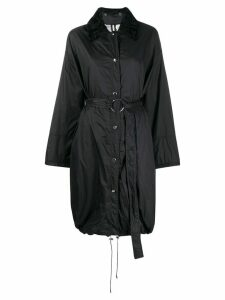 Yves Salomon belted mid-length parka - Black