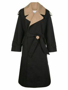 Ganni belted trench coat - Black