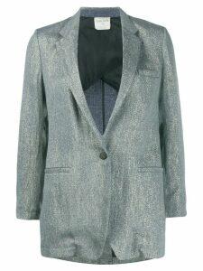 Forte Forte metallic single-breasted blazer - Blue
