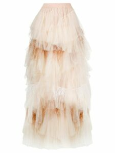 Twin-Set layered tulle skirt - NEUTRALS