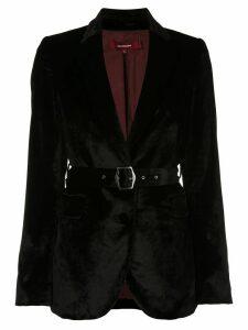 Sies Marjan Terry velvet belted blazer - Black