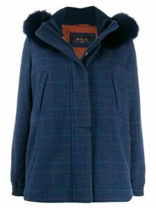 Loro Piana padded parka coat - Blue