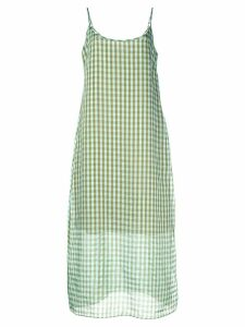 Callipygian gingham cami dress - Green