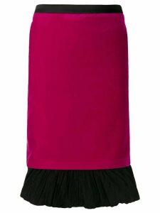 Karl Lagerfeld Karl X Carine velvet skirt - PINK